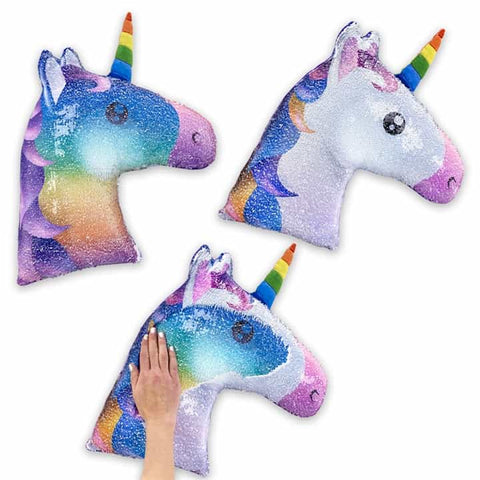 Sequin Pillow: Unicorn