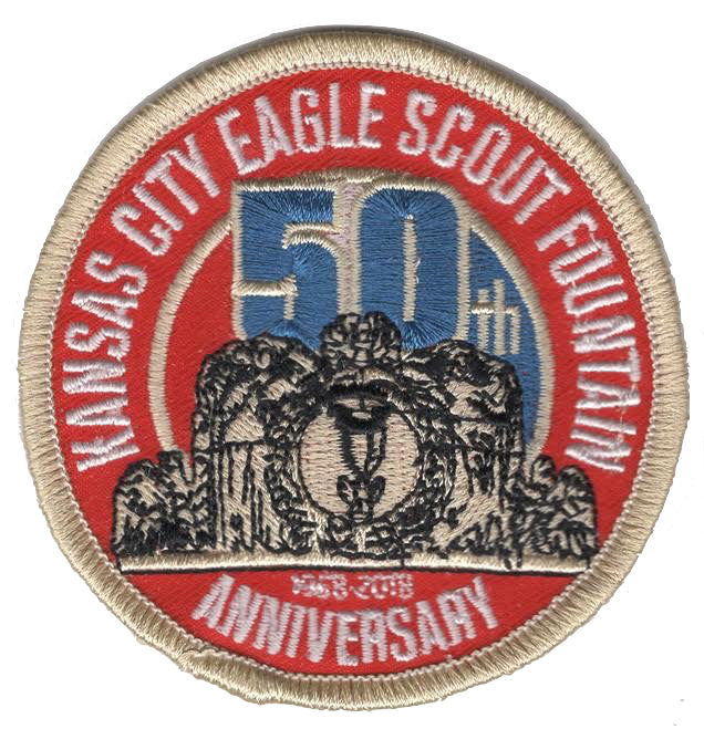 Embroidered Patch of the Kansas City Eagle Scout Fountain