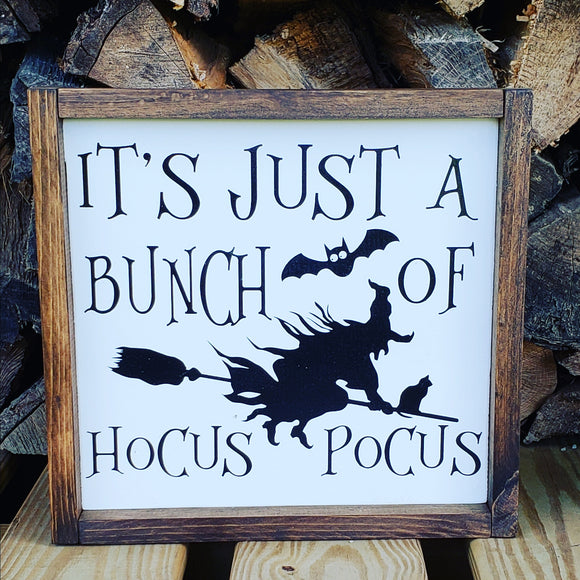Hocus Pocus - Wood Framed Sign