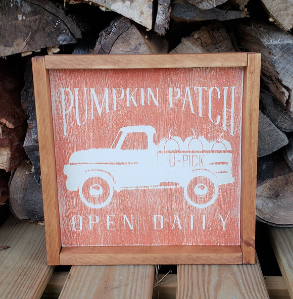 Pumpkin Truck - weathered orange