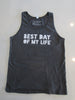 Mens Tank Top Asphalt - Distressed