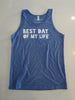 Mens Tank Top Blue - Distressed