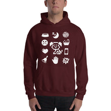 Load image into Gallery viewer, White Icons Hooded Sweatshirt