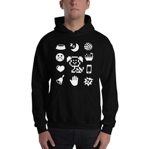 White Icons Hooded Sweatshirt