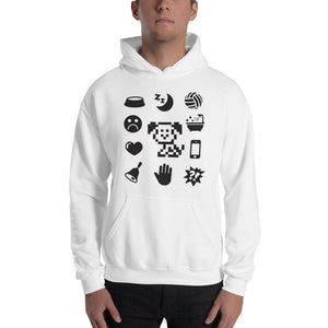 Black Icons Hooded Sweatshirt