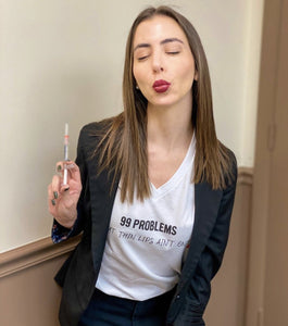 Alexandra Fernandez-Sastre PA-C @alex.miami.pa in 99 Problems But Thin Lips Ain't One T Shirt