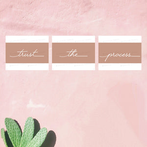 Trust The Process 3 Piece Wall Art for aesthetic medicine cosmetic injectors