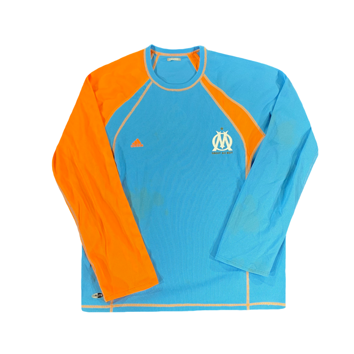 Face sweat olympique de marseille vintage années 2000 adidas orange