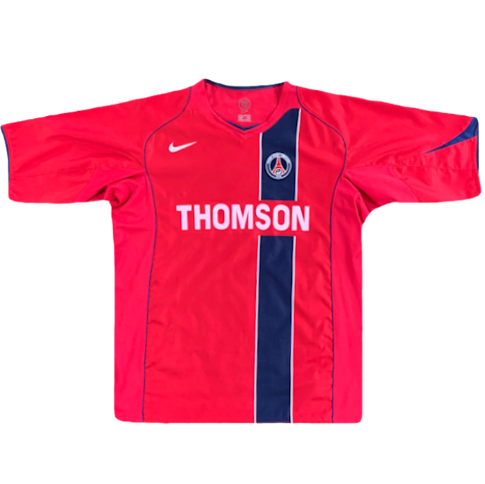 maillot paris saint germain thomson rouge vintage saison 2004-2005