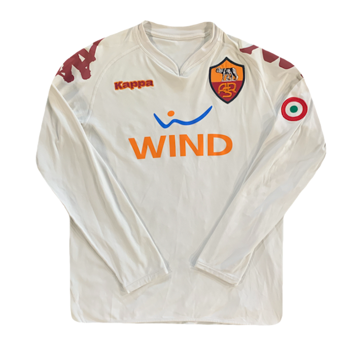 maillot as roma vintage saison 2008-2009 manches longues wind kappa