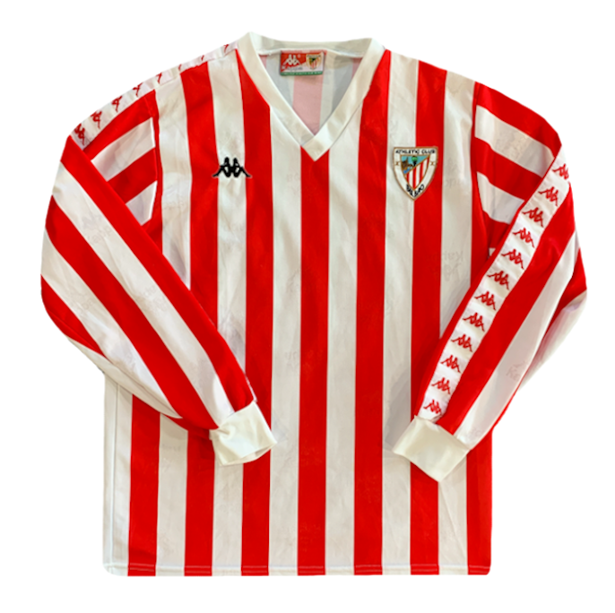 maillot athletic bilbao vintage manches longues saison 1994-1995 kappa