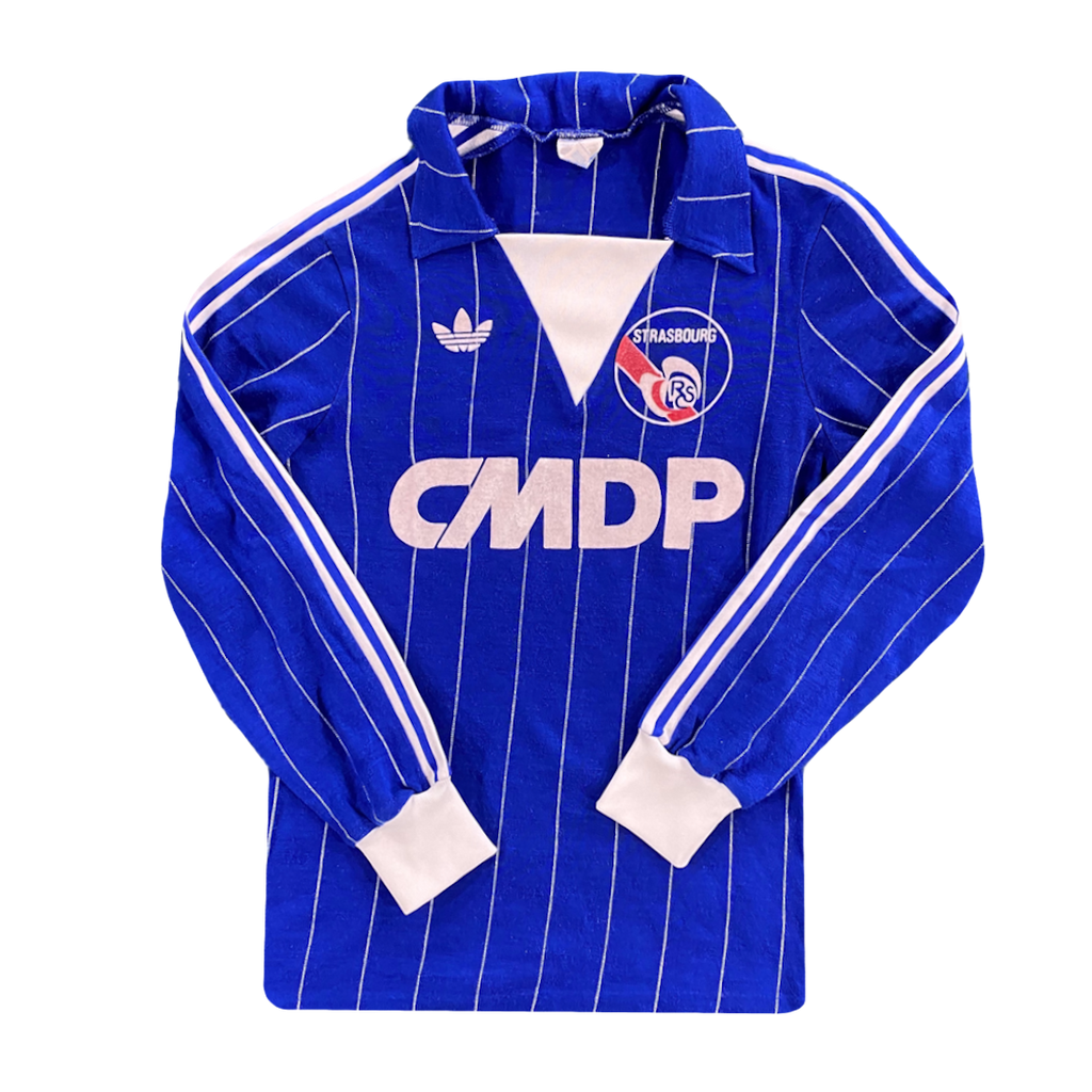 maillot strasbourg vintage cmdp saison 1982-1983 adidas manches longues