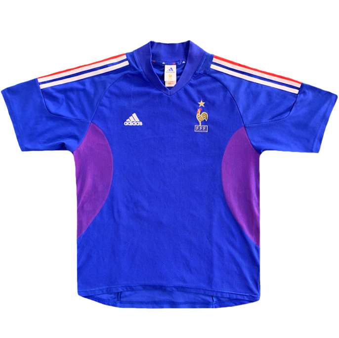 maillot equipe de france vintage coupe 2002 adidas