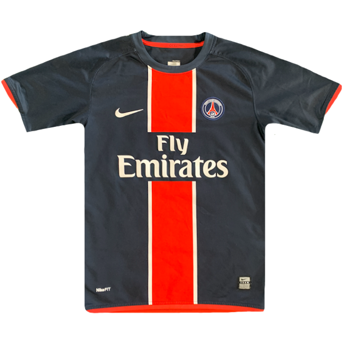 maillot paris saint germain vintage saison 2008-2009 fly emirates nike