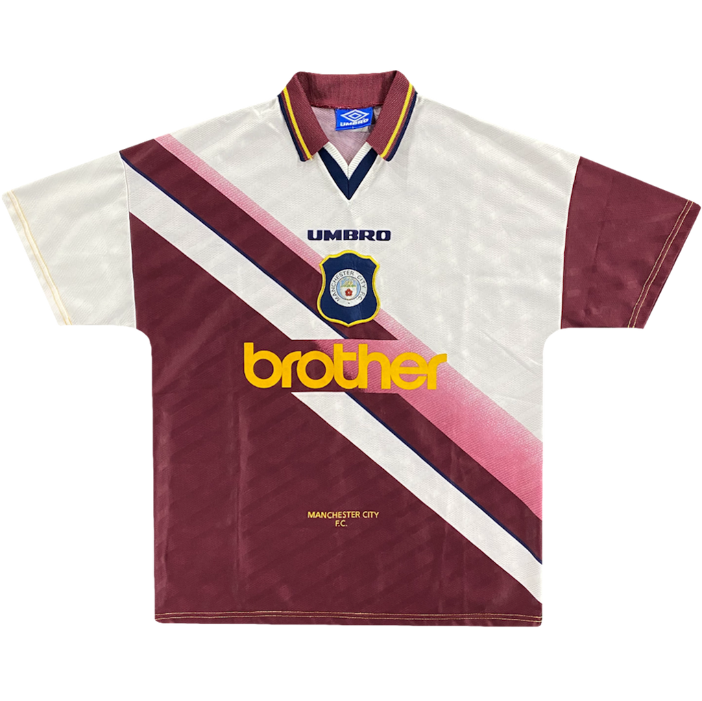 maillot manchester city vintage saison 1996-1997 brother umbro