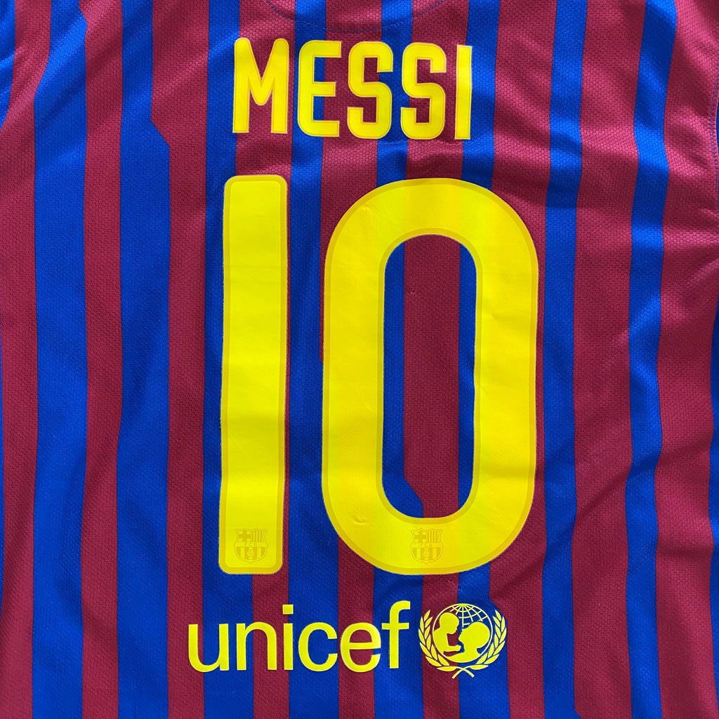 maillot messi fc barcelone vintage saison 2011-2012 qatar airways