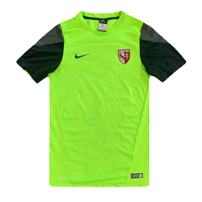 maillot metz fluo vintage années 2010 nike