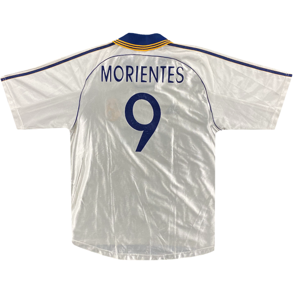 maillot morientes real madrid vintage saison 1998-2000
