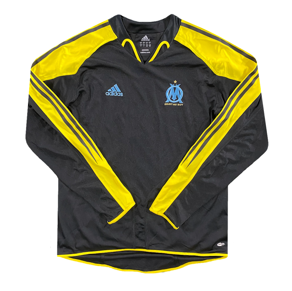 maillot OM vintage manches longues saison 2004-2005 adidas
