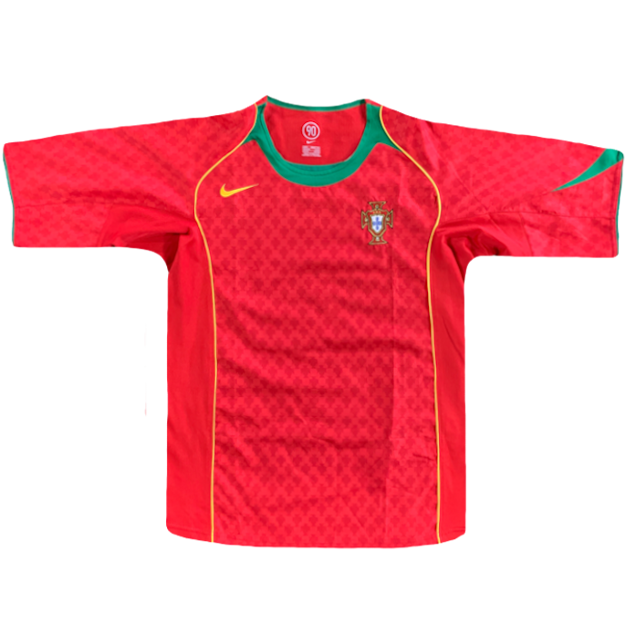 maillot portugal vintage rouge saison 2004-2006 nike