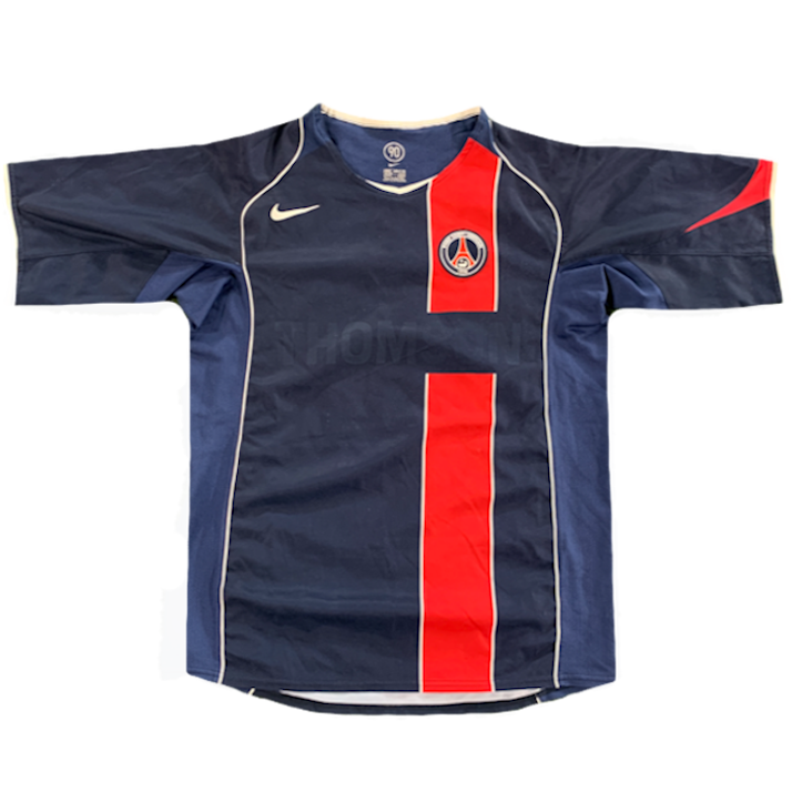 maillot domicile paris saint germain vintage saison 2004-2005 Thomson nike