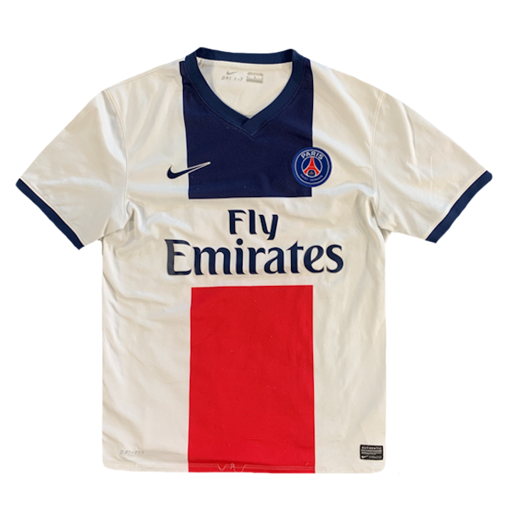 maillot paris saint germain vintage saison 2013-2014 fly emirates nike