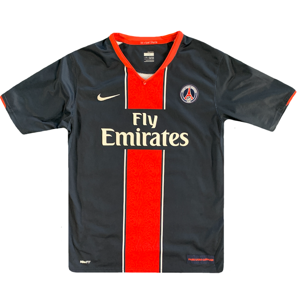 maillot paris saint germain vintage saison 2007-2008 fly emirates nike