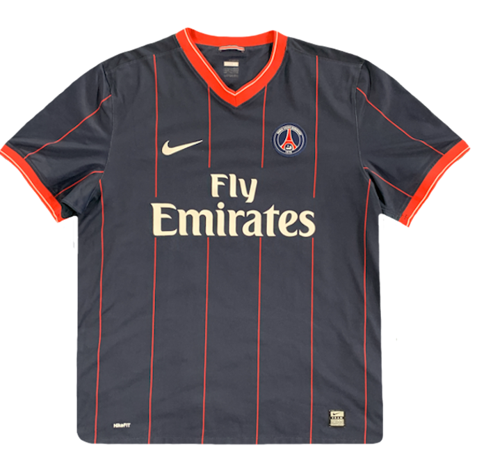 maillot paris saint germain vintage saison 2009-2010 fly emirates nike
