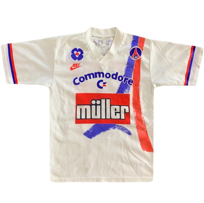 maillot paris saint germain vintage saison 1991-1992 commodore muller