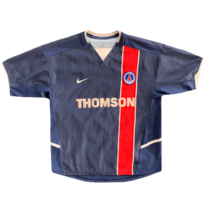 maillot paris saint germain vintage saison 2002-2003 thomson bleu