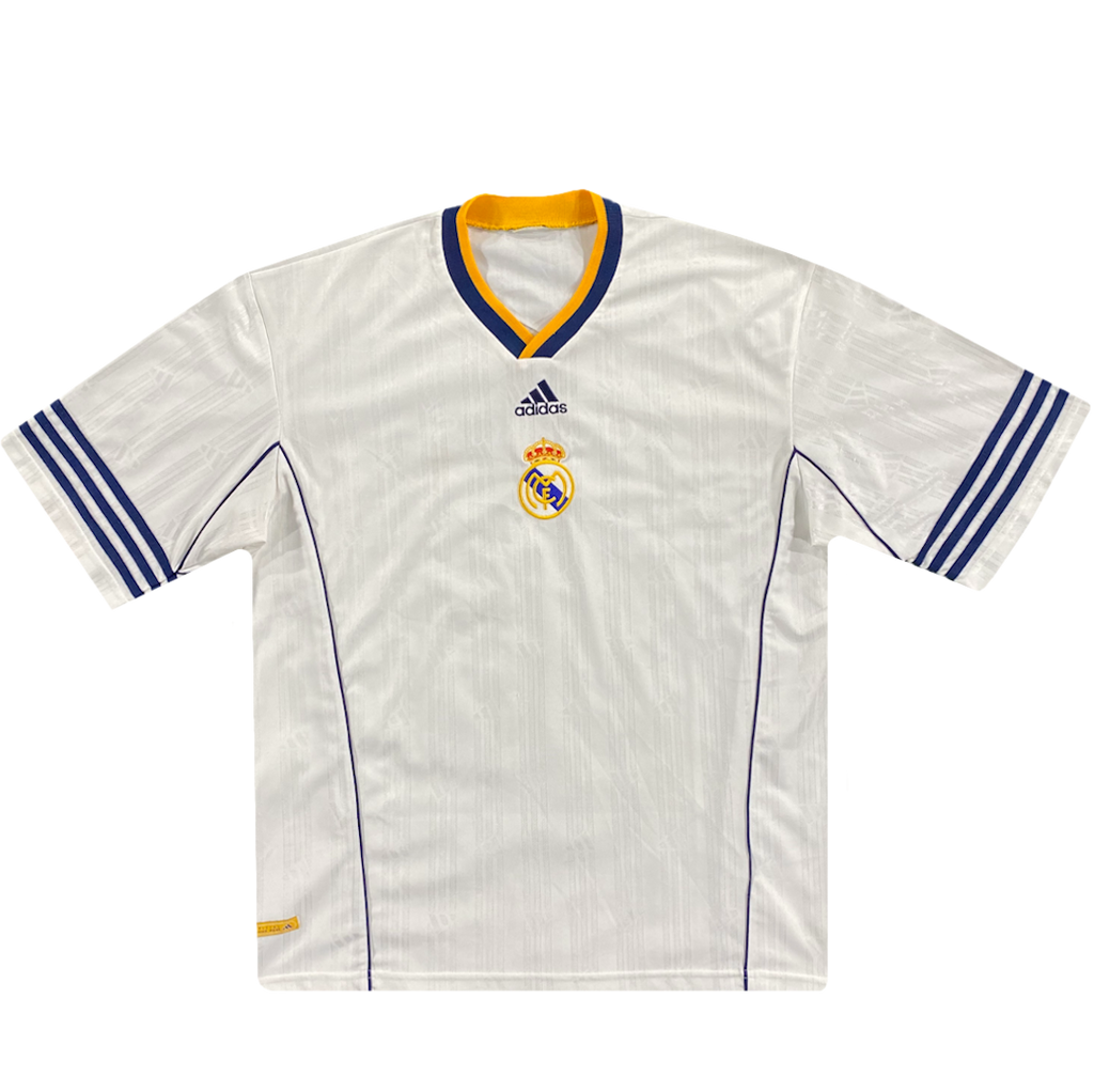 maillot entrainement real madrid vintage saison 1999-2000 adidas