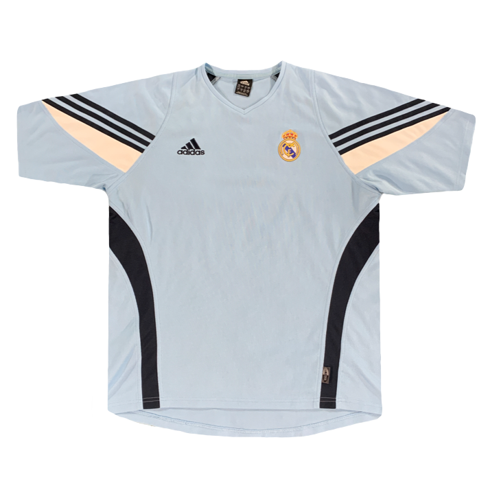 Face maillot entrainement Real Madrid vintage années 2000 adidas