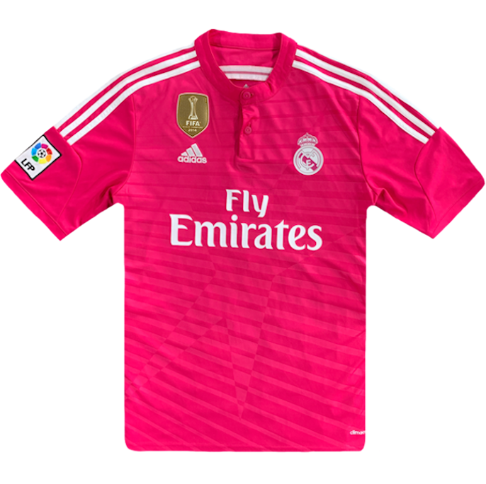 maillot real madrid vintage rose saison 2014-2015 fly emirates adidas lfp