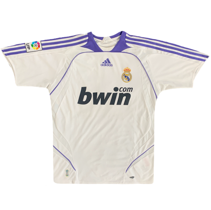 maillot real madrid vintage saison 2007-2008 bwin.com lfp