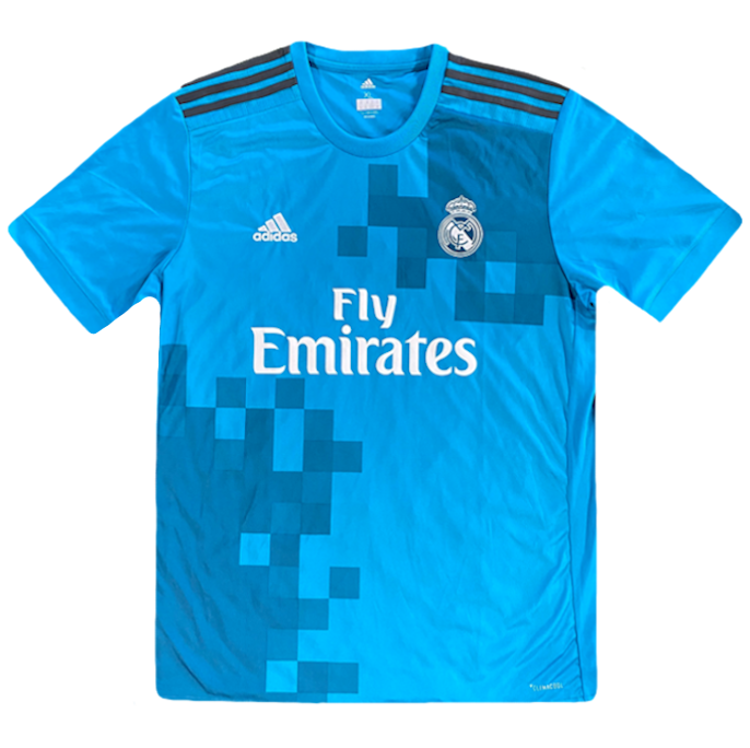 maillot real madrid vintage saison 2017-2018 fly emirates