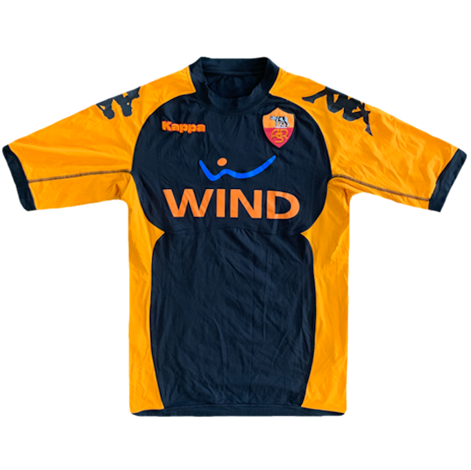 maillot as roma vintage saison 2010-2011 wind kappa orange et noir