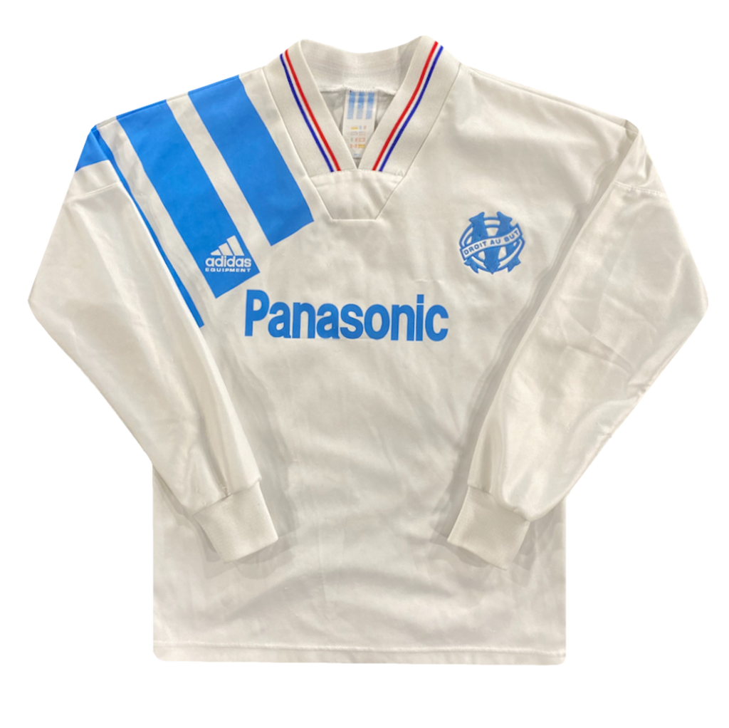 maillot OM panasonic vintage manches longues saison 1991-1992 adidas