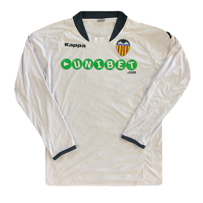 maillot valence manches longues blanc vintage 2009-2010 unibet kappa