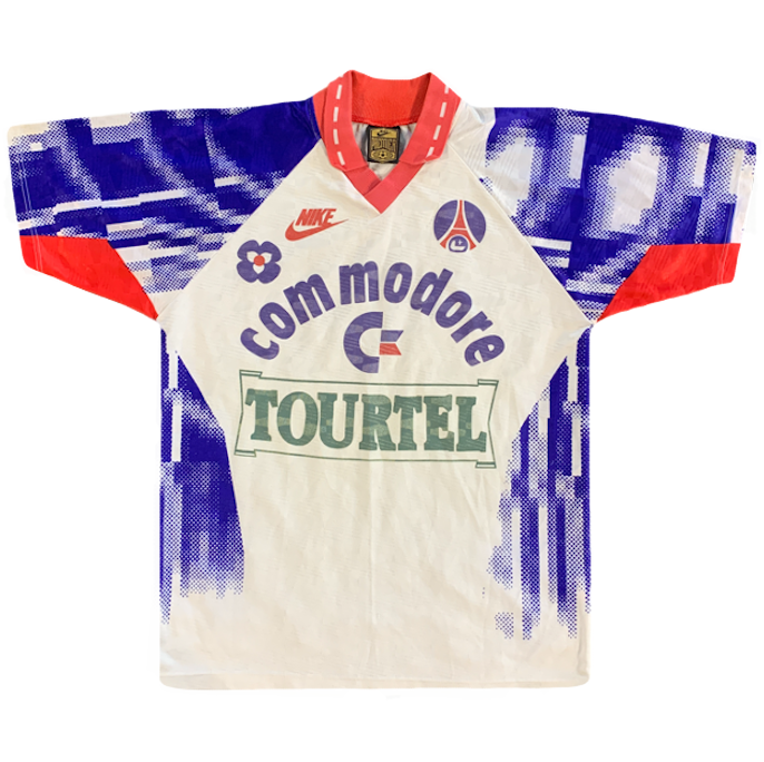 maillot paris saint germain vintage saison 1992-1993 commodore tourtel nike