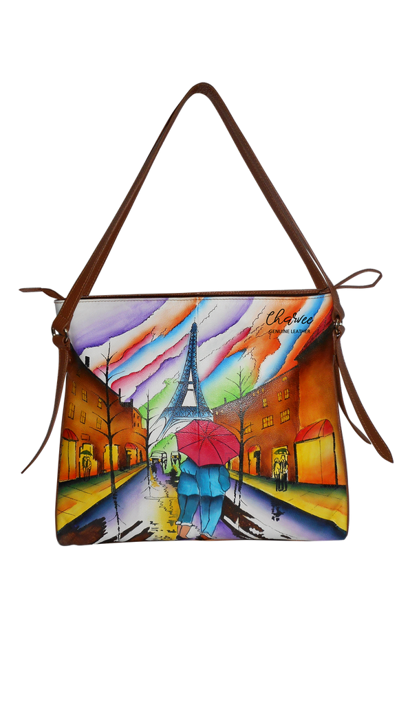 City of Love - Hand Painted Leather Bag
