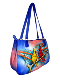 Cardinal Couple - Hand Painted Leather Bag