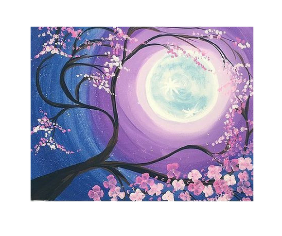 Cherry Blossoms - Adult Paint on Canvas