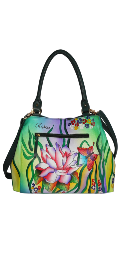 Lily - Hand Painted Leather Bag