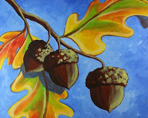 Paint with Page - Acorn Trio