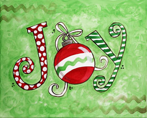 Christmas Joy - Paint with Josh