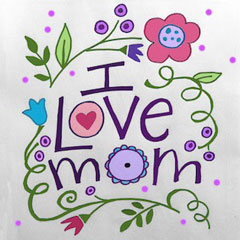 I Love Mom - Kids Fun Art