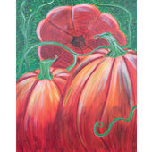 The Pumpkin Patch - Adult Paint on Canvas