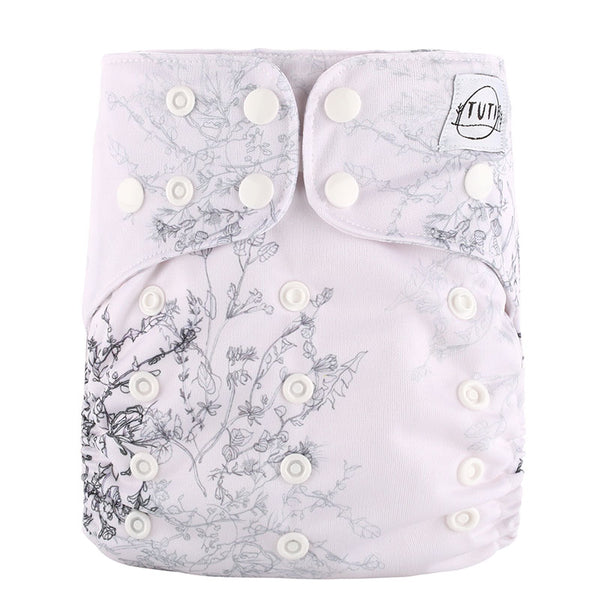 Grey Bouquet Cloth Nappy