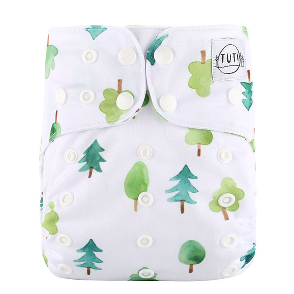Watercolour Tree Cloth Nappy