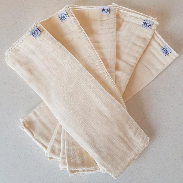 Organic Cotton Insert Five Pack (Prefolds)